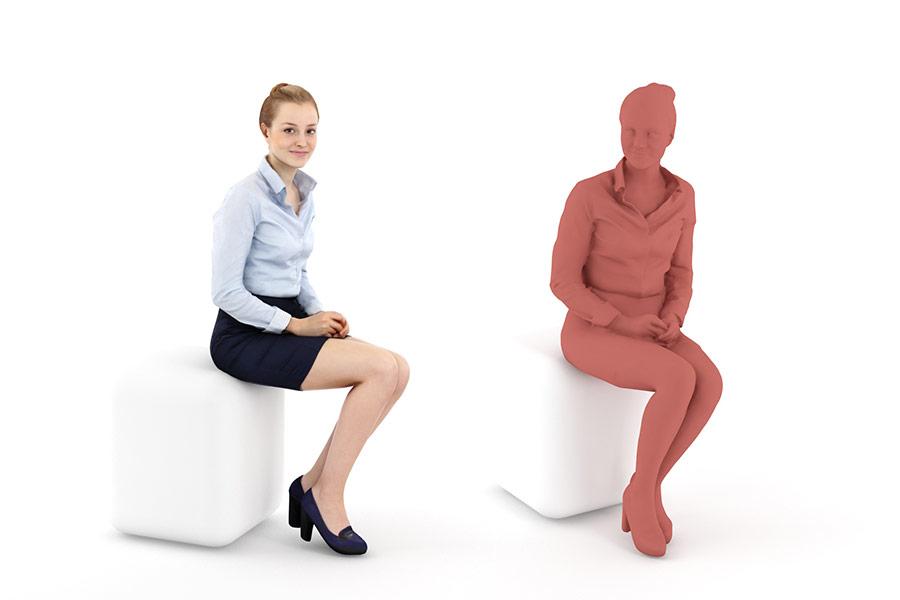 Click to enlarge image RP Wom Petra 0113 sbs jpg. HDRI Hub   3D People Sitting People 01