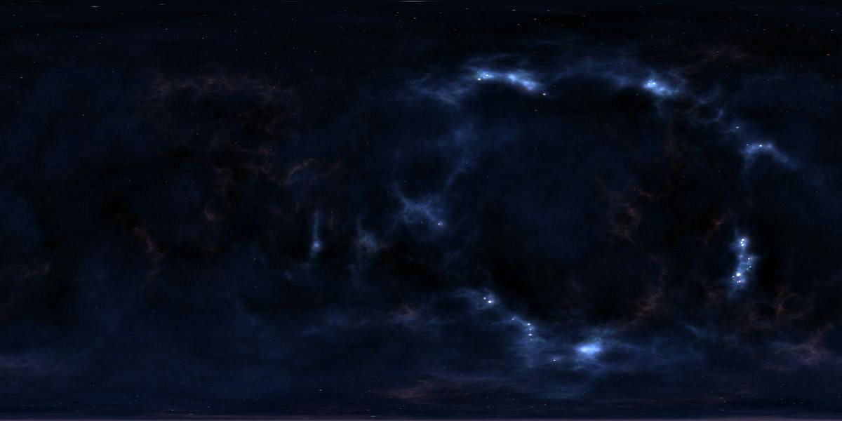 Hdri hub hdr 180 4 space sky and stars for 3d map of outer space