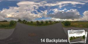 HDR 147 Rural Road Plates - Layout License - Hdr of rural road with cloudy sky. Including 14 backplates. Private and layout use only.