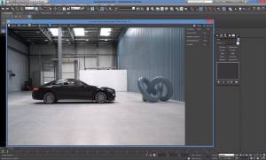 3DS Max Corona - Live Action Integration with HDRI and Backplate