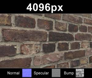 Bricks 04 - High resolution brick texture. Seamless and tileable! Color/Normal/Specular/Bump Maps included