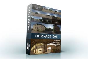HDR Pack 008 - 11 high resolution hdr sIBL Sets. Each set also contains the corrosponding source hdr. Save 40% over buying individually.
