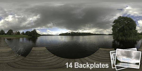 HDR 143 Cloudy Lake View Plates - Layout License