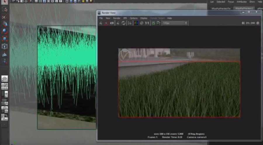 HDRI Hub - Maya V-Ray - Advanced V-Ray Fur Grass Tutorial