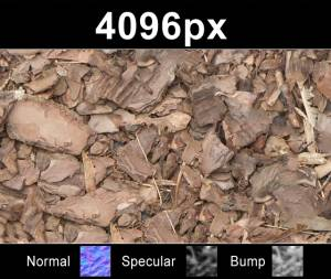 Mulch 01 - High resolution mulch ground texture. Seamless and tileable! Color/Normal/Specular/Bump Maps included