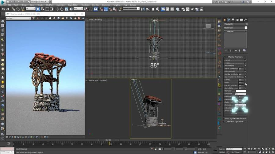 3DS Max V-Ray - Quick Tutorial: Sun and Sky