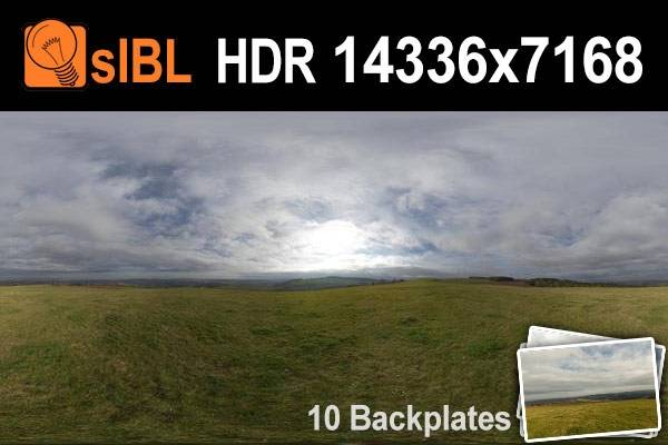 HDR 136 Hill Top with Cloudy Sky Plates