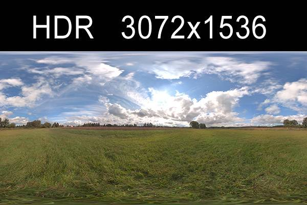 HDR Sky Cloudy (free) - High resolution hdr environment in .hdr format including gi map and tonemapped version. 