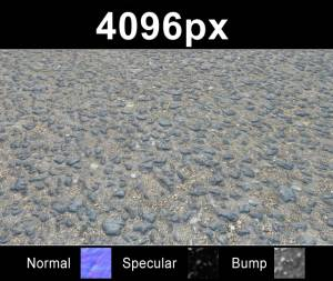 Asphalt 03 - High resolution asphalt road texture. Seamless and tileable! Color/Normal/Specular/Bump Maps included