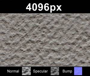 Plaster 05 - Super high resolution plaster texture. Seamless and tileable! Color/Normal/Specular/Bump Maps included