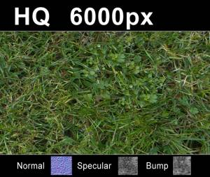 Lawn 05 - Super high resolution grass texture. Seamless and tileable! Color/Normal/Specular/Bump Maps included