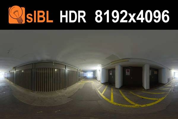 HDR 110 Tunnel (free) - Free hdr environment of an industrial tunnel. Complete sIBL set plus full resolution source .hdr