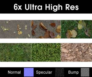 Pack 007 Ground - Save 50% with this discounted collection of six high resolution ground textures. Seamless and tileable! Color/Normal/Specular/Bump Maps
