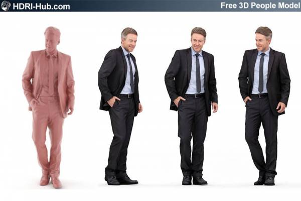 Free Casual 3D People - Dennis - Free high res male 3d people. Already posed. For 3Ds Max, C4D, Obj and Sketchup