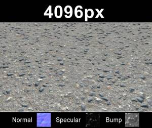 Asphalt 02 - High resolution asphalt road texture. Seamless and tileable! Color/Normal/Specular/Bump Maps included
