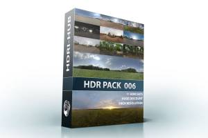 HDR Pack 006 - High resolution hdr environment in .hdr format including gi map and tonemapped version.