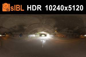 HDR 120 Tunnel - High resolution hdr environment of an old tunnel. Complete sIBL set plus full resolution source .hdr