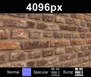 Bricks 02 - High resolution brick texture. Seamless and tileable! Color/Normal/Specular/Bump Maps included