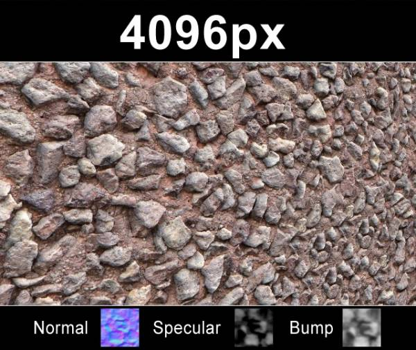 Close up of gravel wall texture