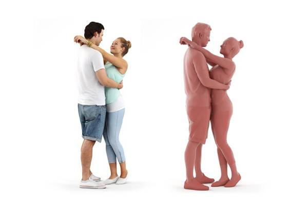 3D People: Pair Rosy Luke 0103