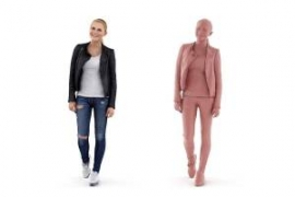 3D People: Woman Carina 0281 - Scanned 3D people for architectural visualizations. In 3ds max, cinema 4d and sketchup format