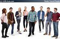 3D People Casual 02 - Collection of 8 high-detailed 3D models of scanned casual people. Already posed. 3Ds Max, C4D, Obj, Sketchup