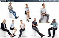 3D People Sitting People 01 - Collection of 8 high-detailed 3D models of scanned people in sitting position. Already posed. 3Ds Max, C4D, Obj